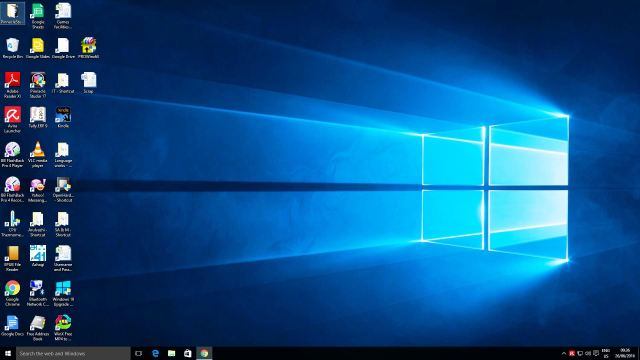 Desktop after Windows 10 Install